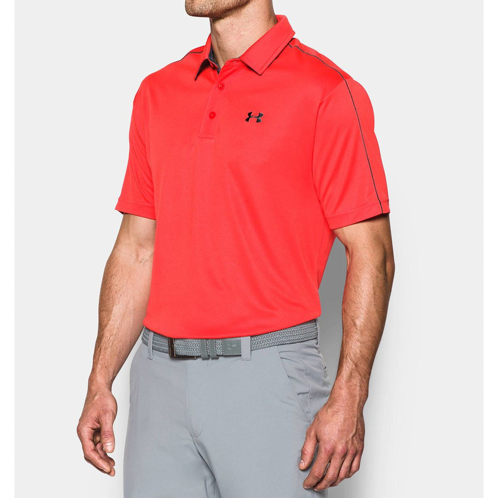 Under Armour Men's Red UA Leaderboard Polo
