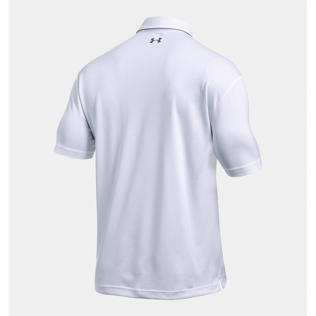 Under Armour Men's White UA Leaderboard Polo