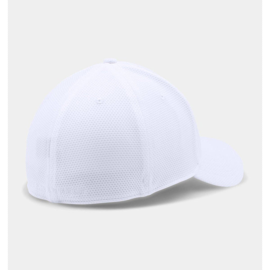 Under Armour Men's White Blitzing II Stretch Fit Cap