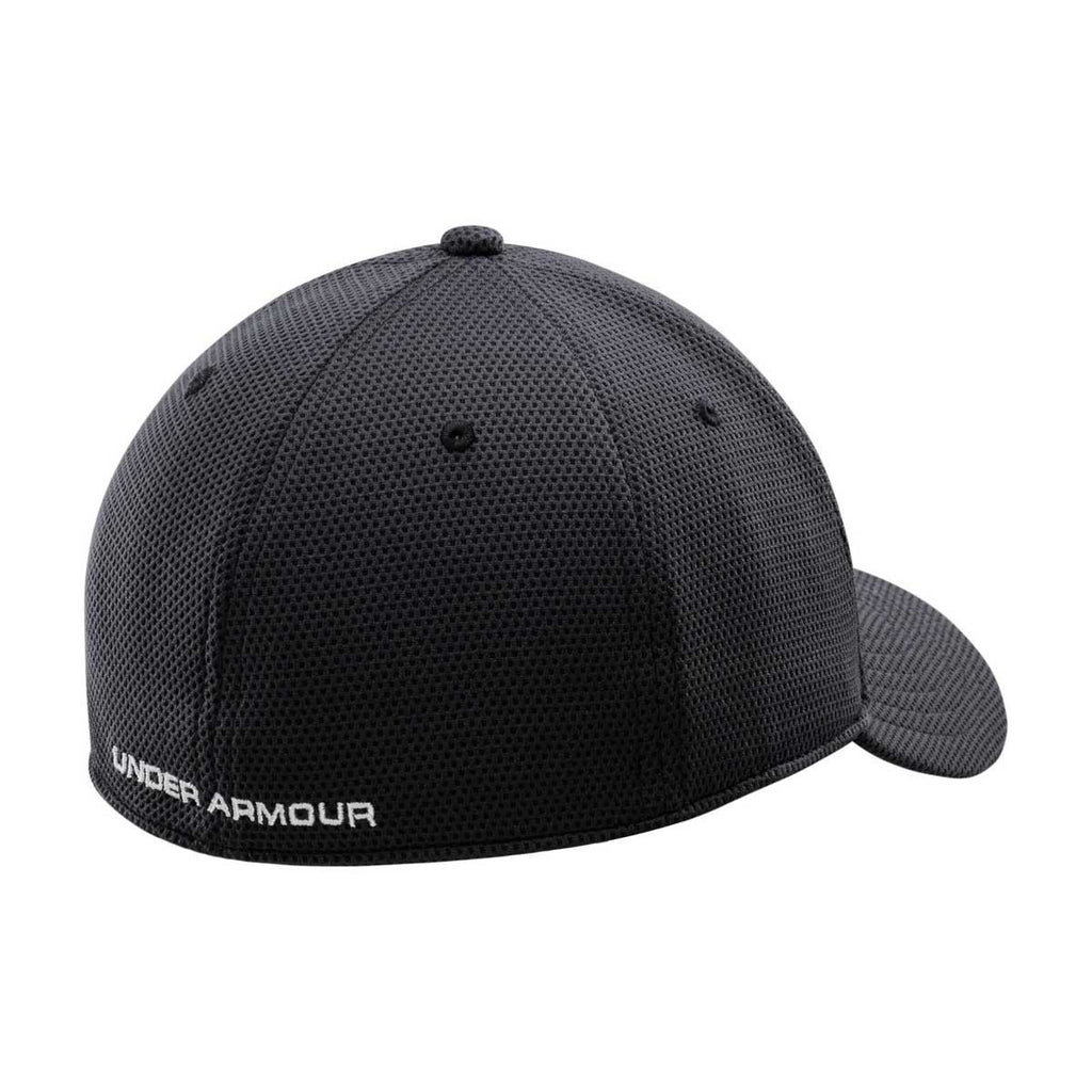 Under Armour Men's Black/White Blitzing II Stretch Fit Cap
