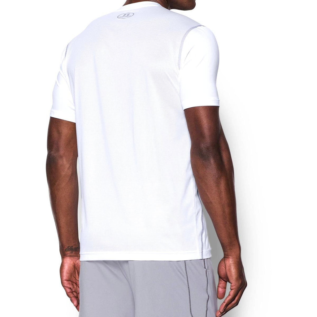 Under Armour Men's White UA Raid Short Sleeve T-Shirt