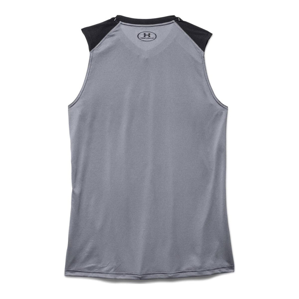 Under Armour Men's Black UA Raid Sleeveless T-Shirts