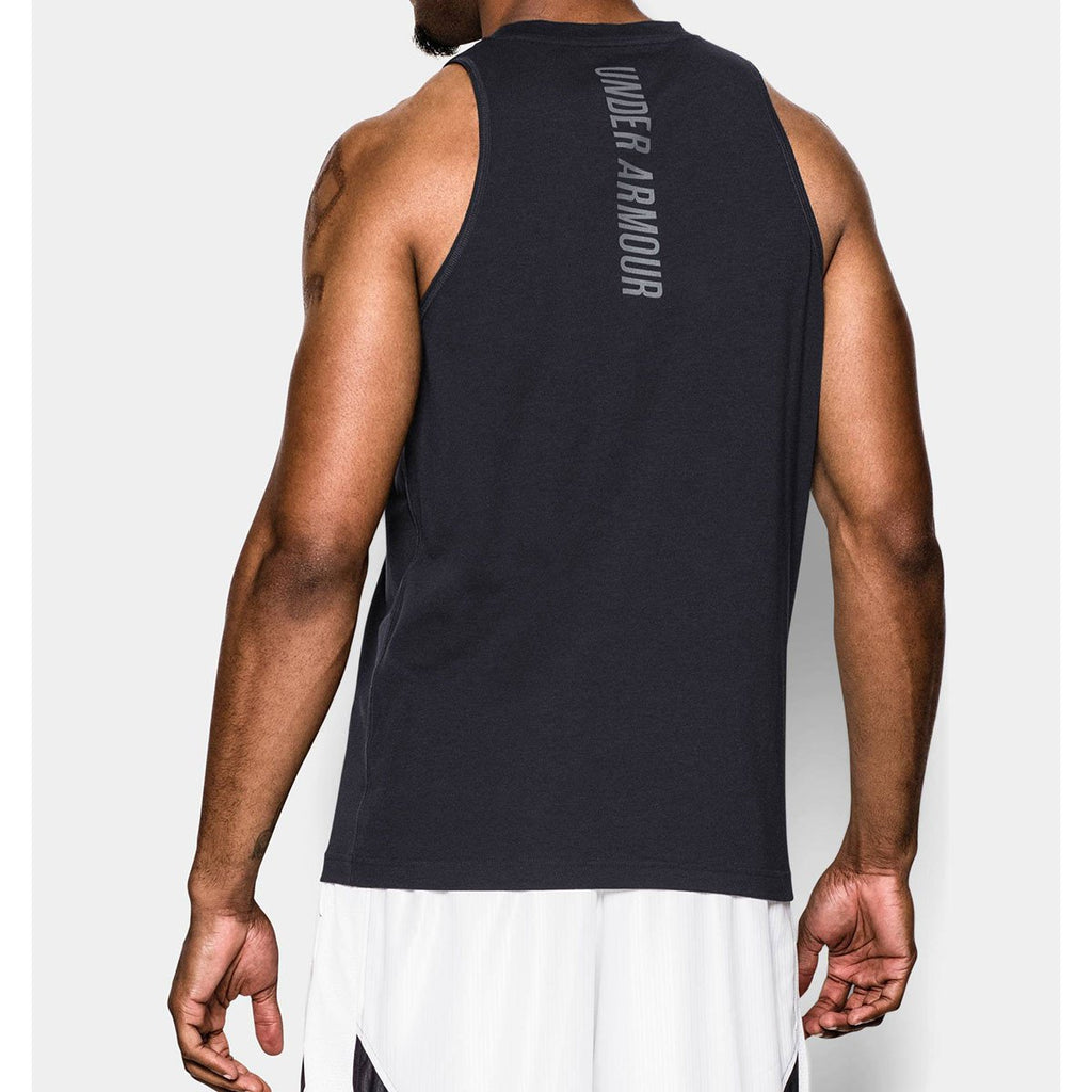 Under Armour Men's Black Charged Cotton Tank