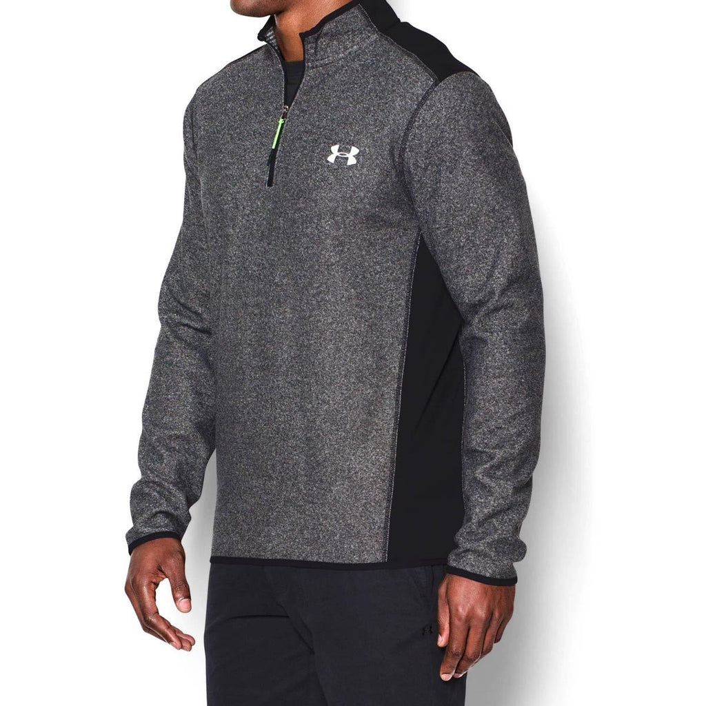 Under Armour Men's Black ColdGear Infrared Performance Fleece Quarter Zip