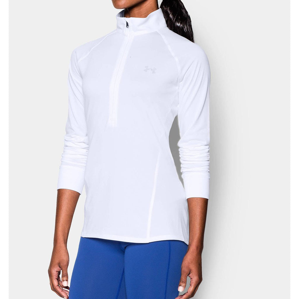 Under Armour Women's White UA Tech 1/2 Zip