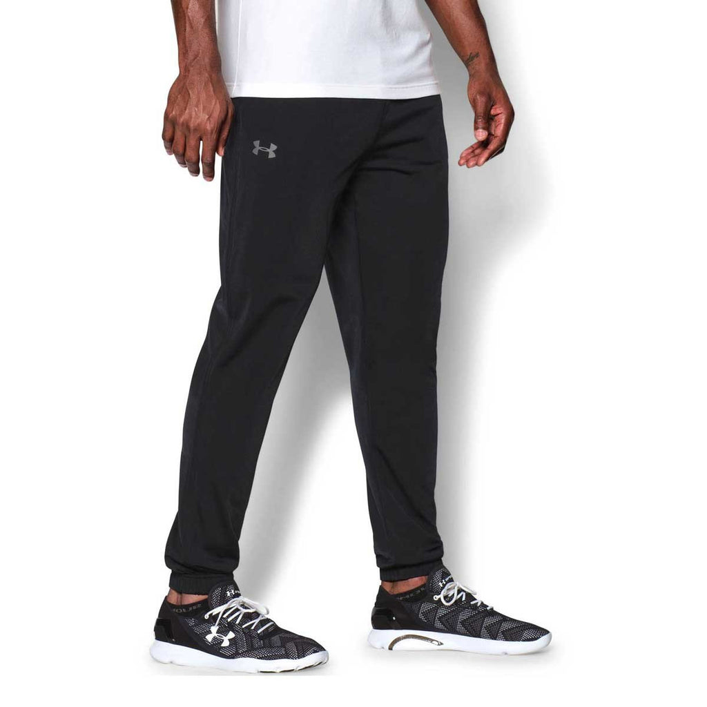 Under Armour Men's Black Relentless Tapered Leg Warm-Up Pants