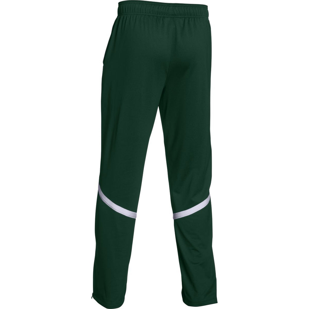 Under Armour Men's Forest Green/White Qualifier Warm-Up Pant