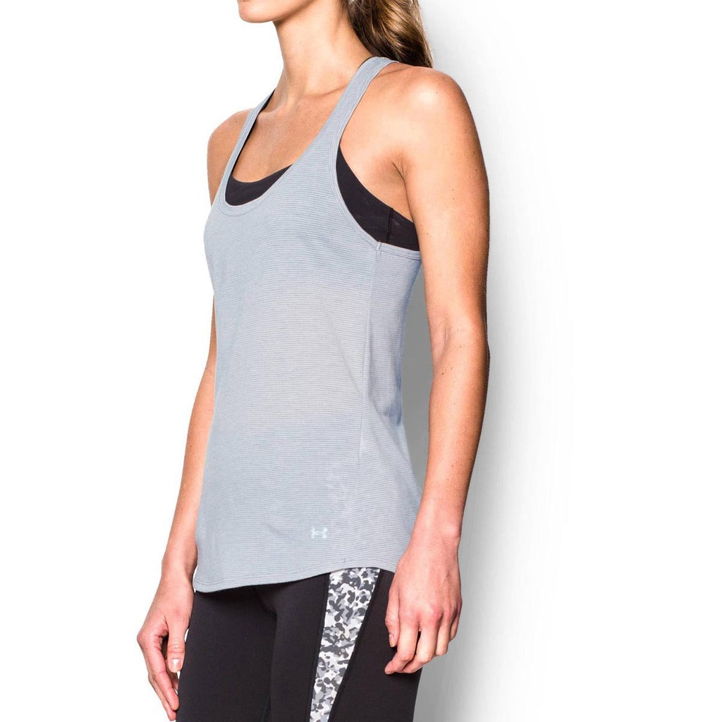 Under Armour Women's True Grey Heather UA Streaker Tank
