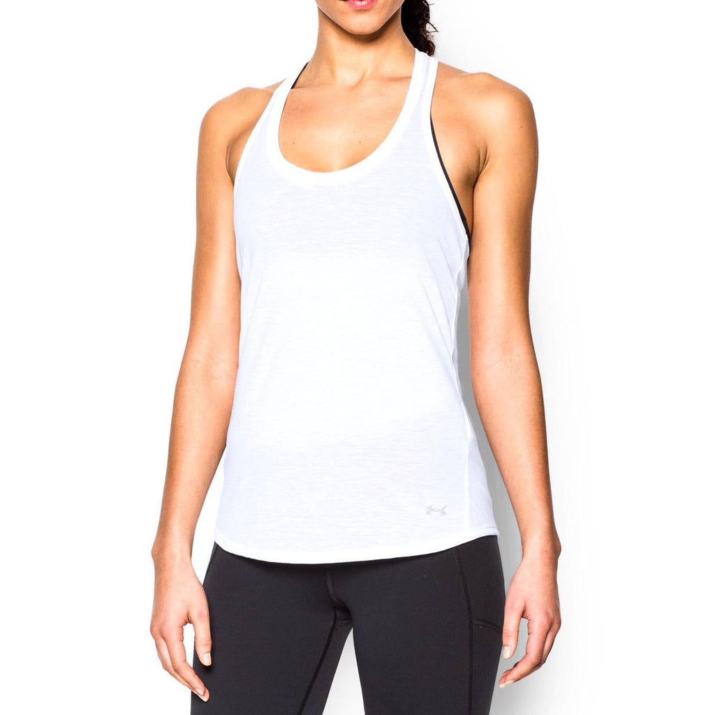 Under Armour Women's White UA Streaker Tank