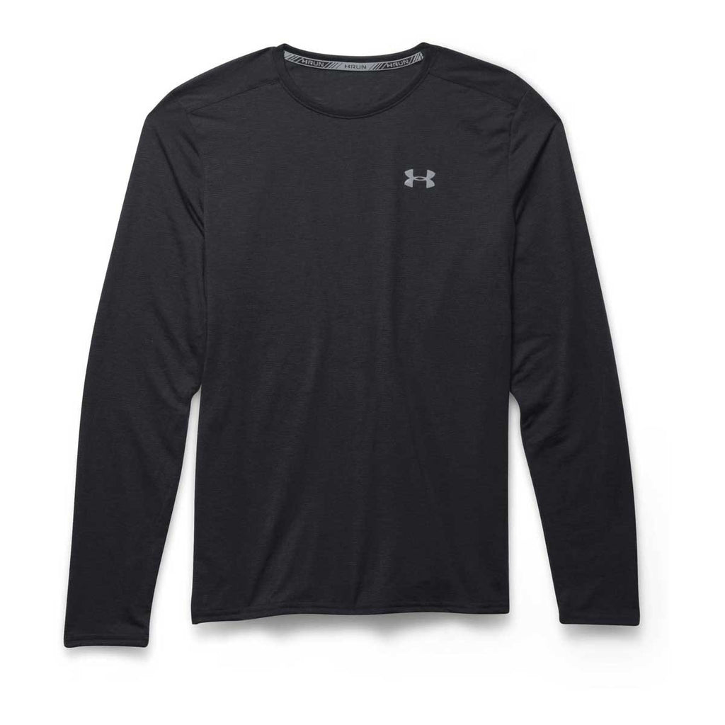 Under Armour Men's Black/Steel/Reflective UA Streaker Run Long Sleeve T-Shirts