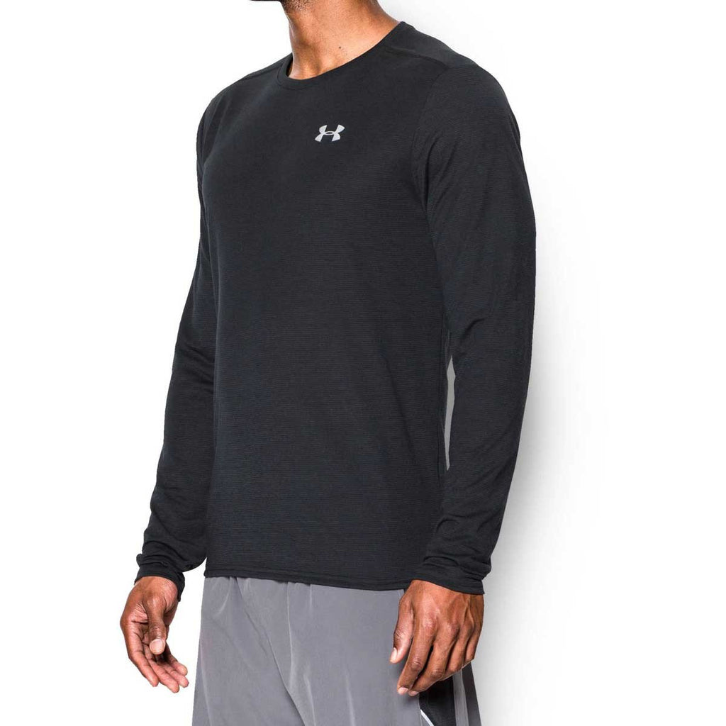 Under Armour Men's Black Streaker Run Long Sleeve T-Shirt