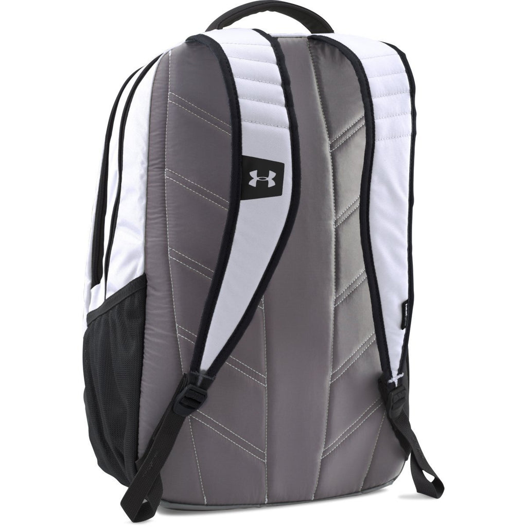 Under Armour White UA Team Hustle Backpack