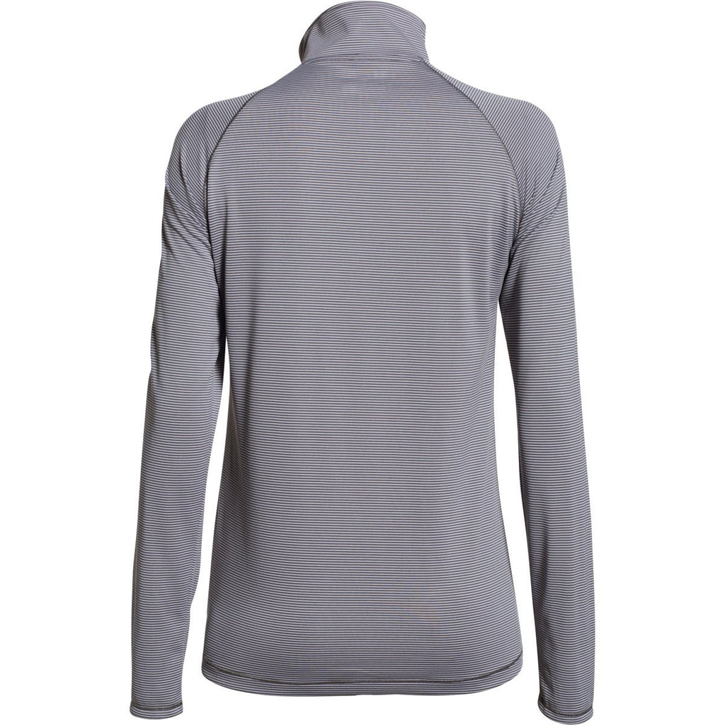 Under Armour Women's Graphite White Stripe Tech 1/4 Zip