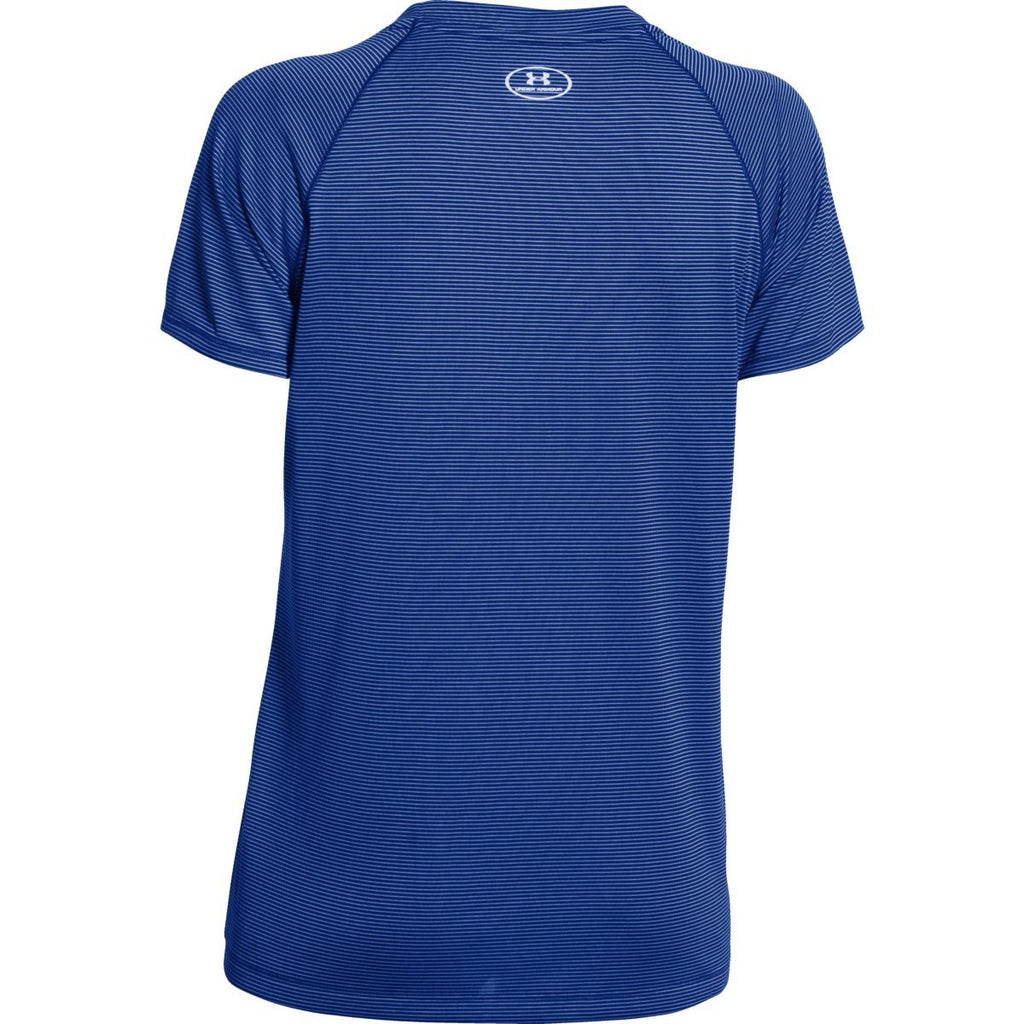 Under Armour Women's Royal UA Stripe Tech Locker Short Sleeve Tee