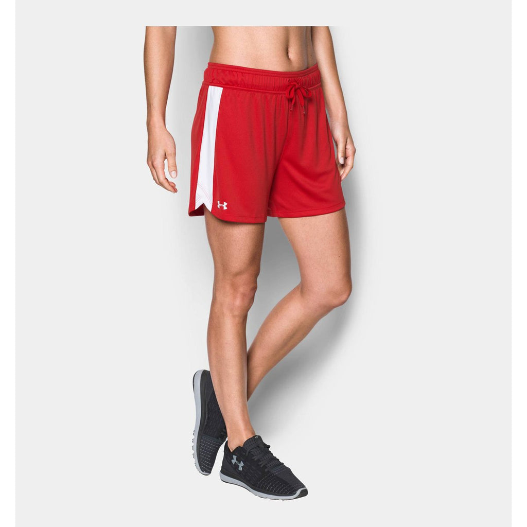 Under Armour Women's Red/White UA Matchup Short