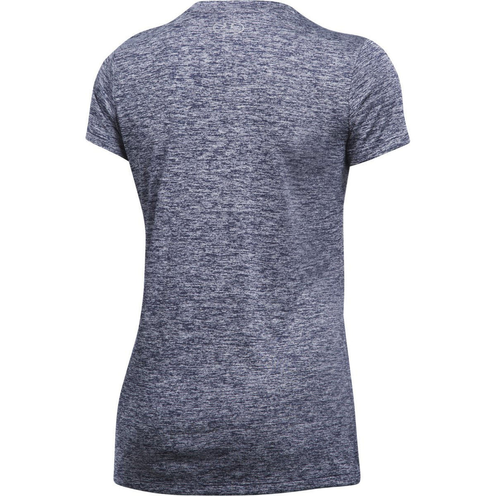 Under Armour Women's Midnight Navy UA Tech Twist V-Neck