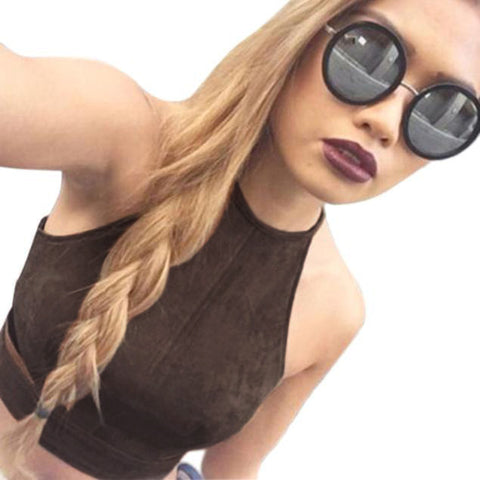 Women Crop Top Shirt Bralette Blouse Cami L - WWW.REBELOUTRAGE.COM