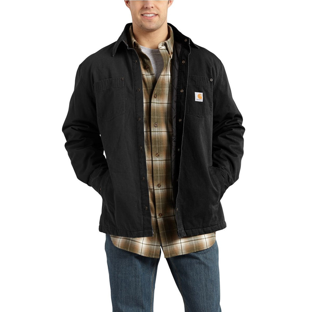 Carhartt Men's Black Chatfield Ripstop Shirt Jacket