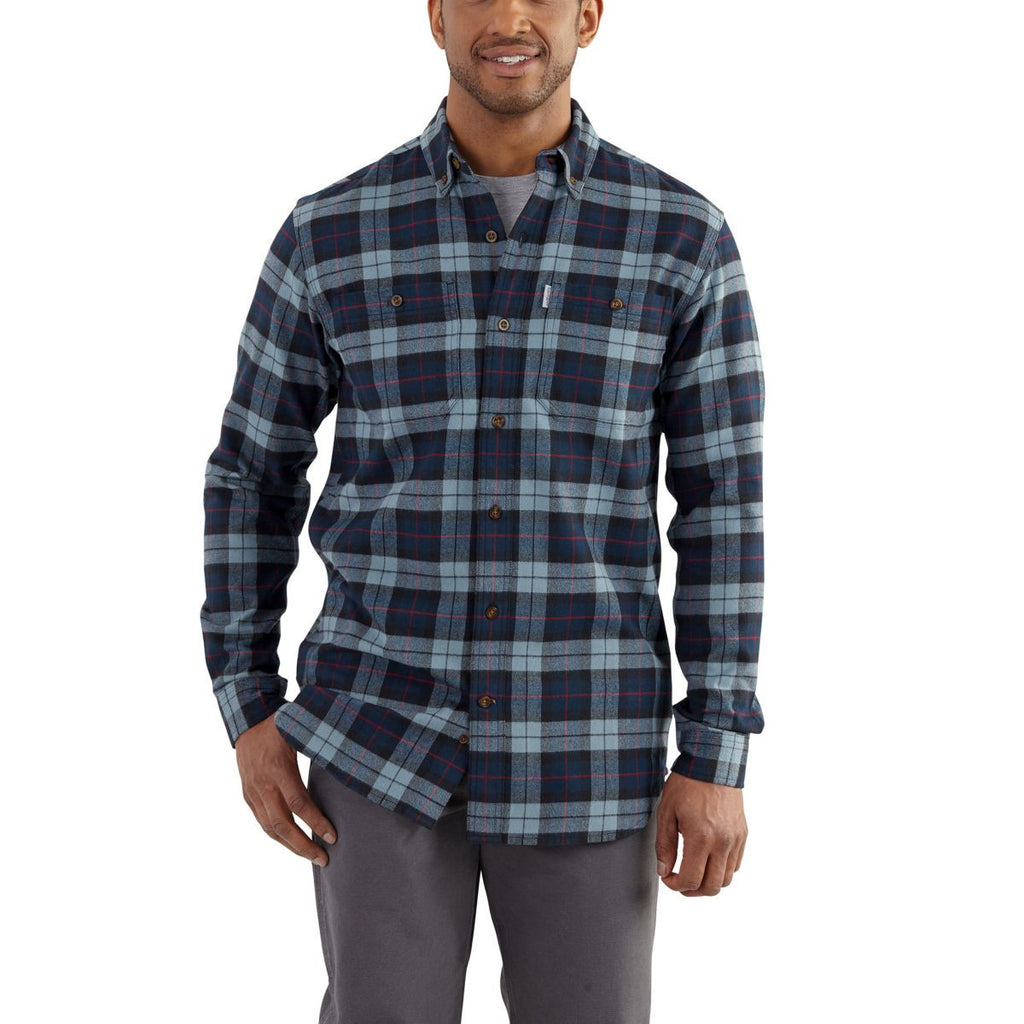 Carhartt Men's Navy Trumbull Plaid Shirt