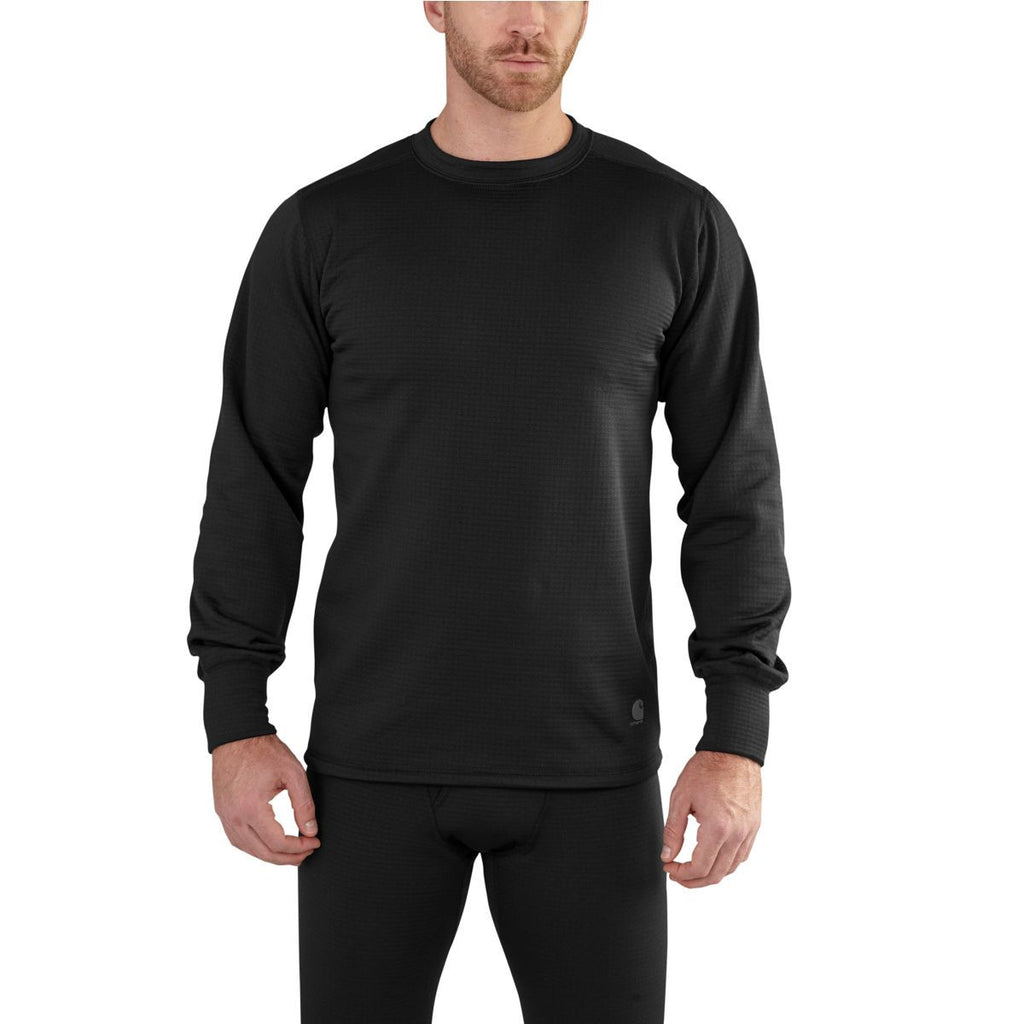 Carhartt Men's Black Base Force Extremes Super Cold Whether Crewneck