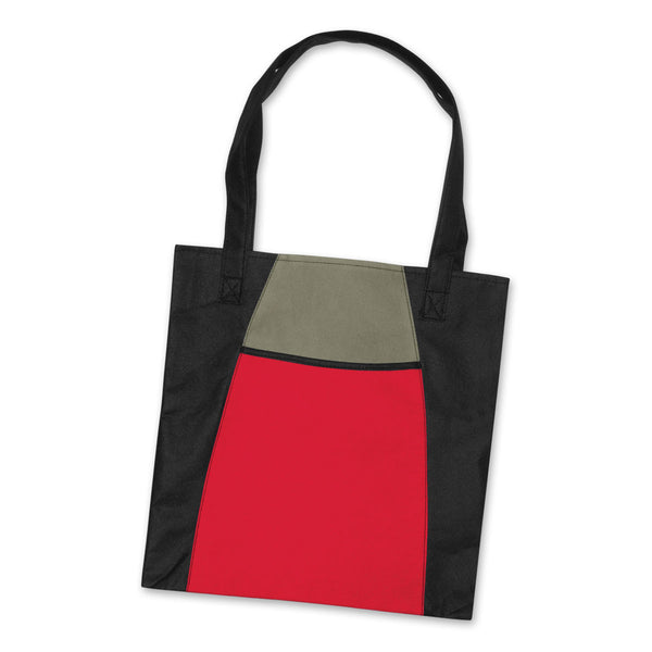 Merchology Red/Black Fashion Tote Bag