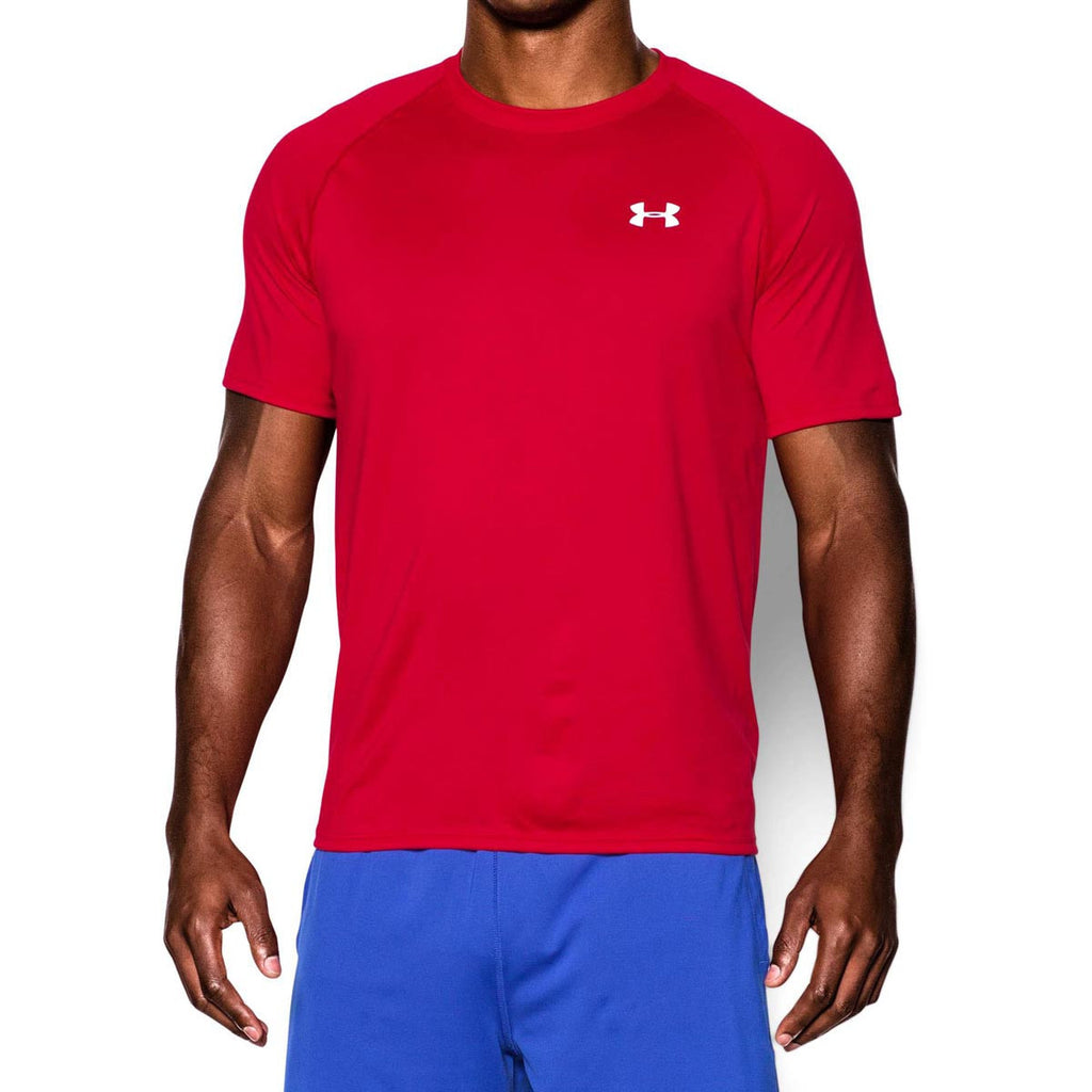 Under Armour Men's Red/White Tech Short Sleeve T-Shirt