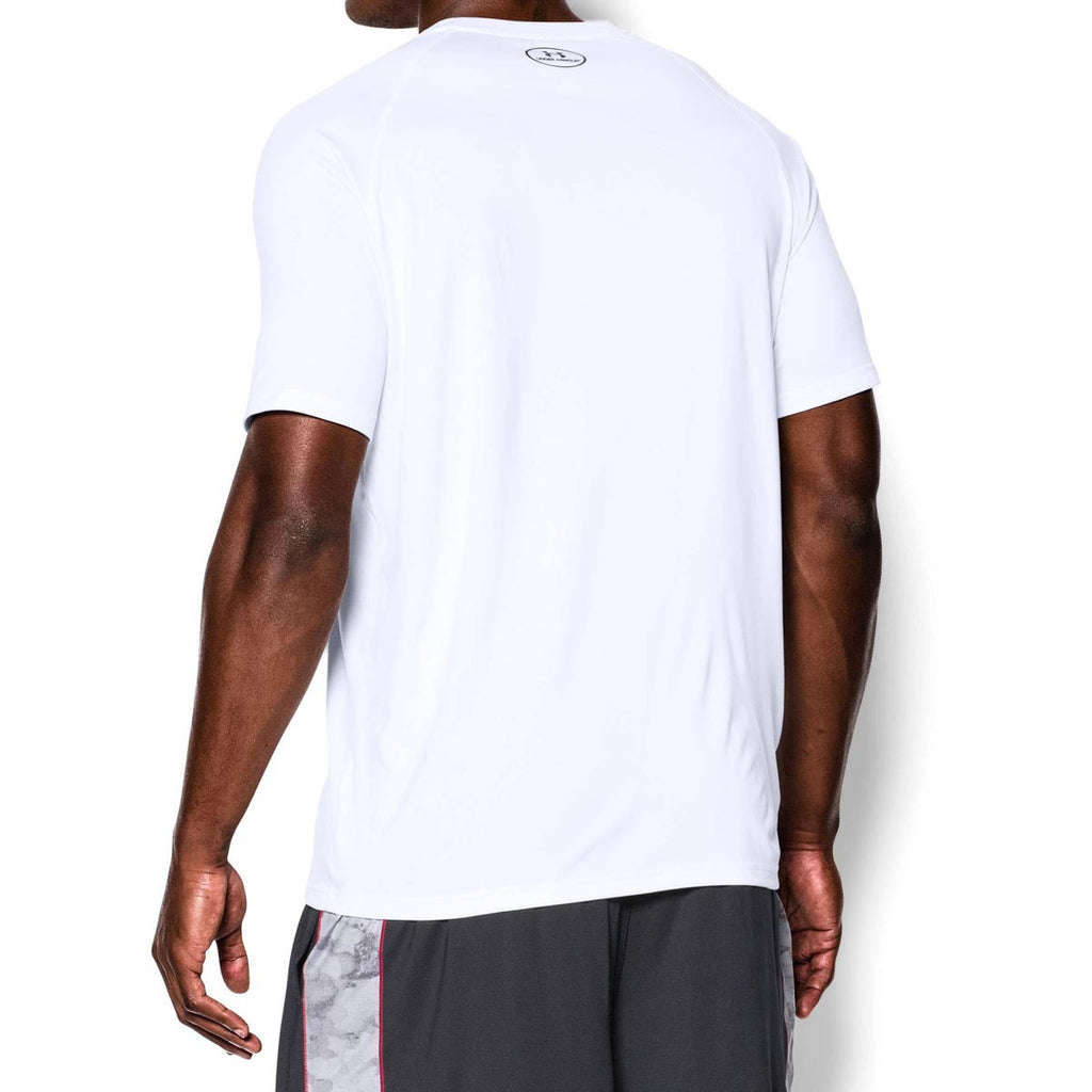 Under Armour Men's White/Black Tech Short Sleeve T-Shirt