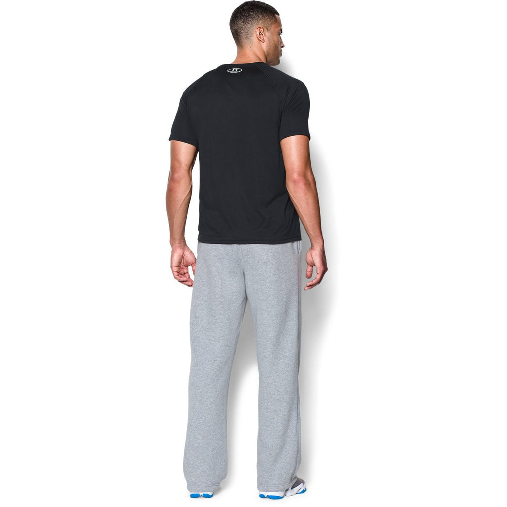 Under Armour Men's True Gray Heather/Black Team Rival Fleece Pant