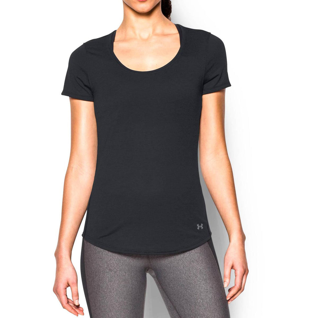Under Armour Women's Black UA Streaker Short Sleeve T-Shirt