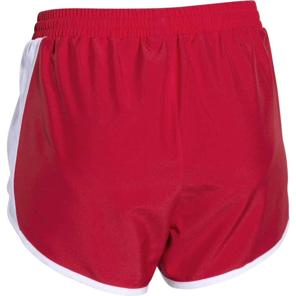 Under Armour Women's Red/White/Reflective Fly By Short