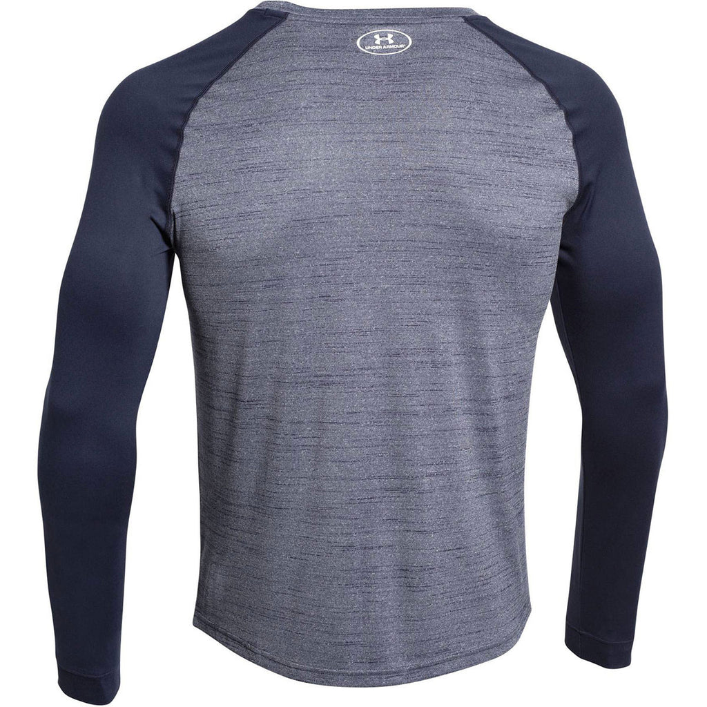 Under Armour Men's Midnight Navy Novelty Locker Long Sleeve Tee