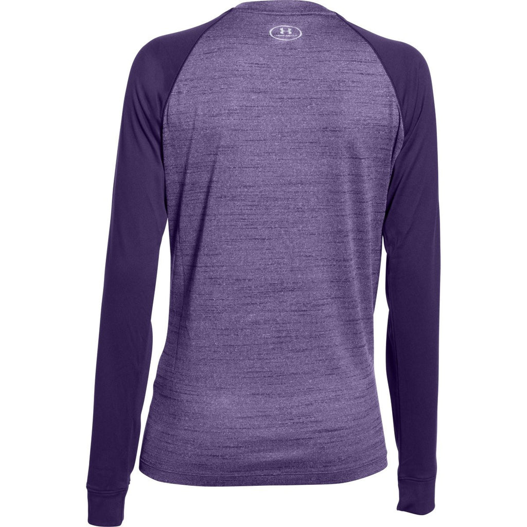 Under Armour Women's Purple Novelty Locker Long Sleeve Tee
