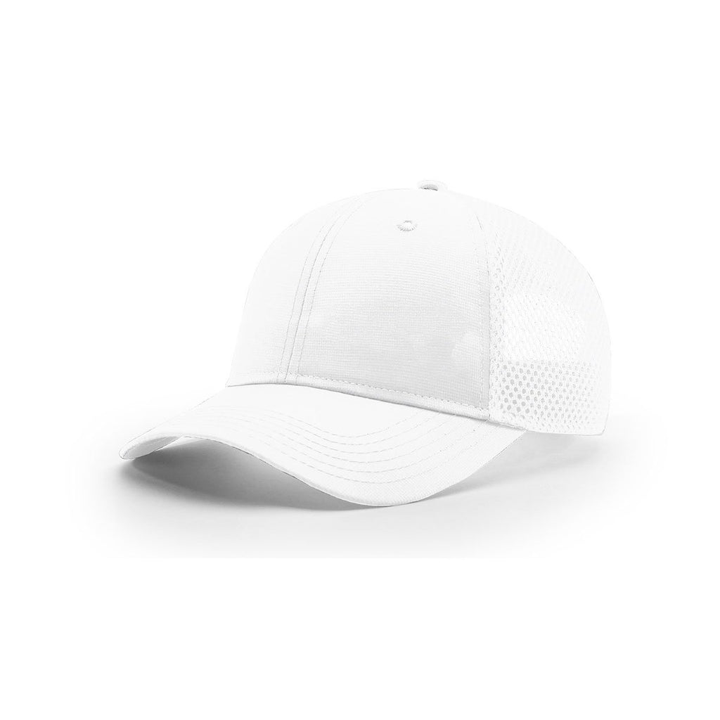 944cdc13b63ad Richardson White Mesh Back Solid R-Active Lite AirMesh Trucker Hat