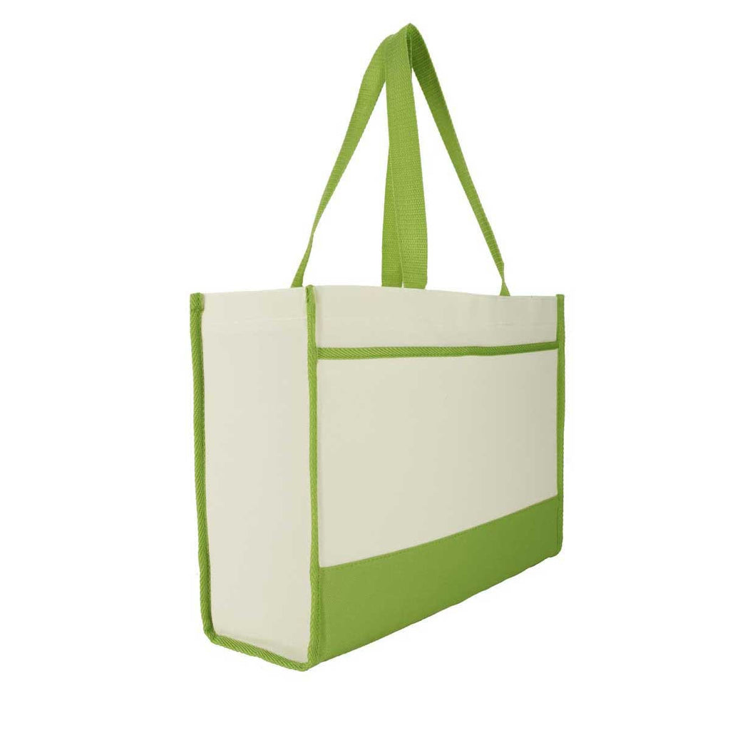 Gemline Apple Green Contemporary Tote