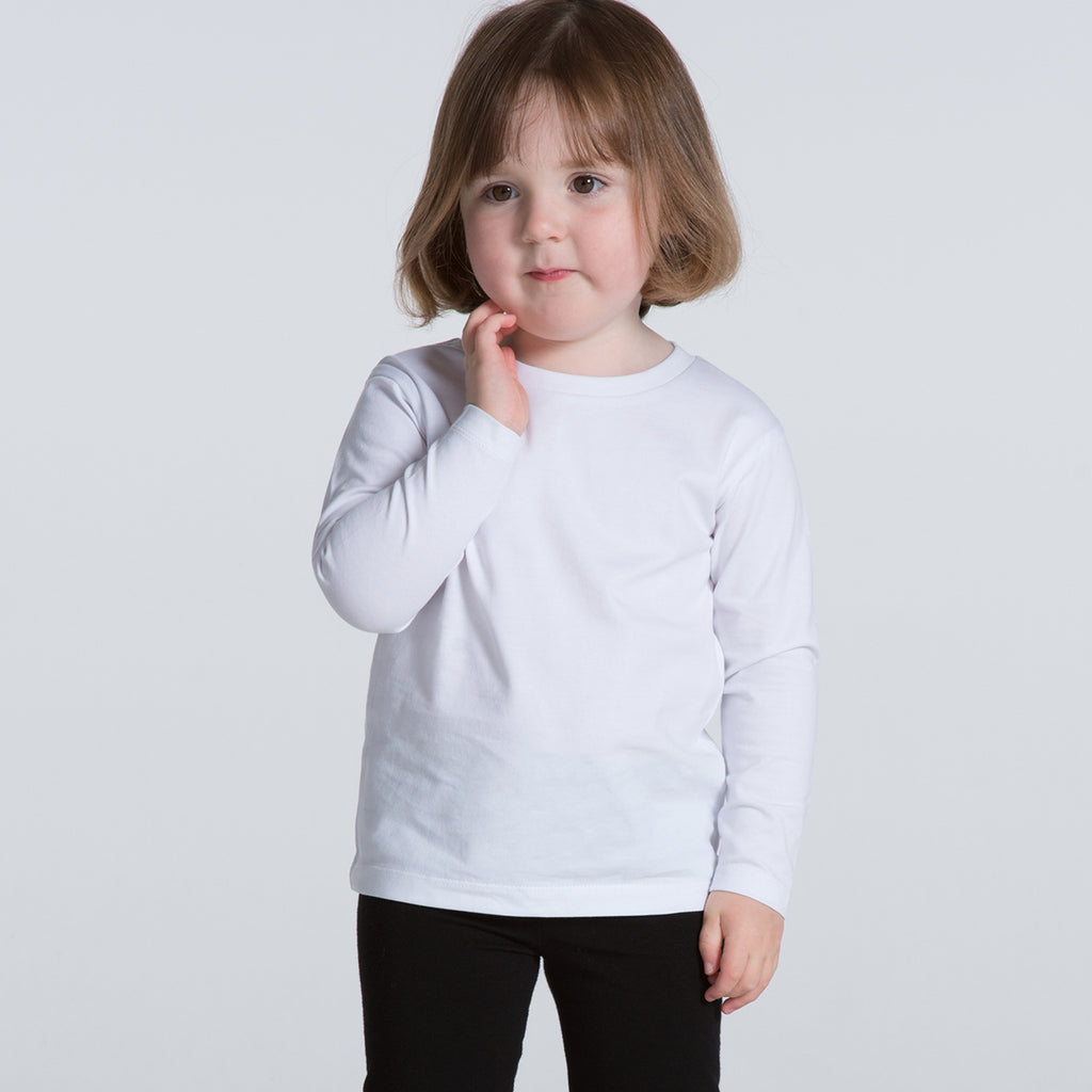 AS Colour Kids White Long Sleeve Tee