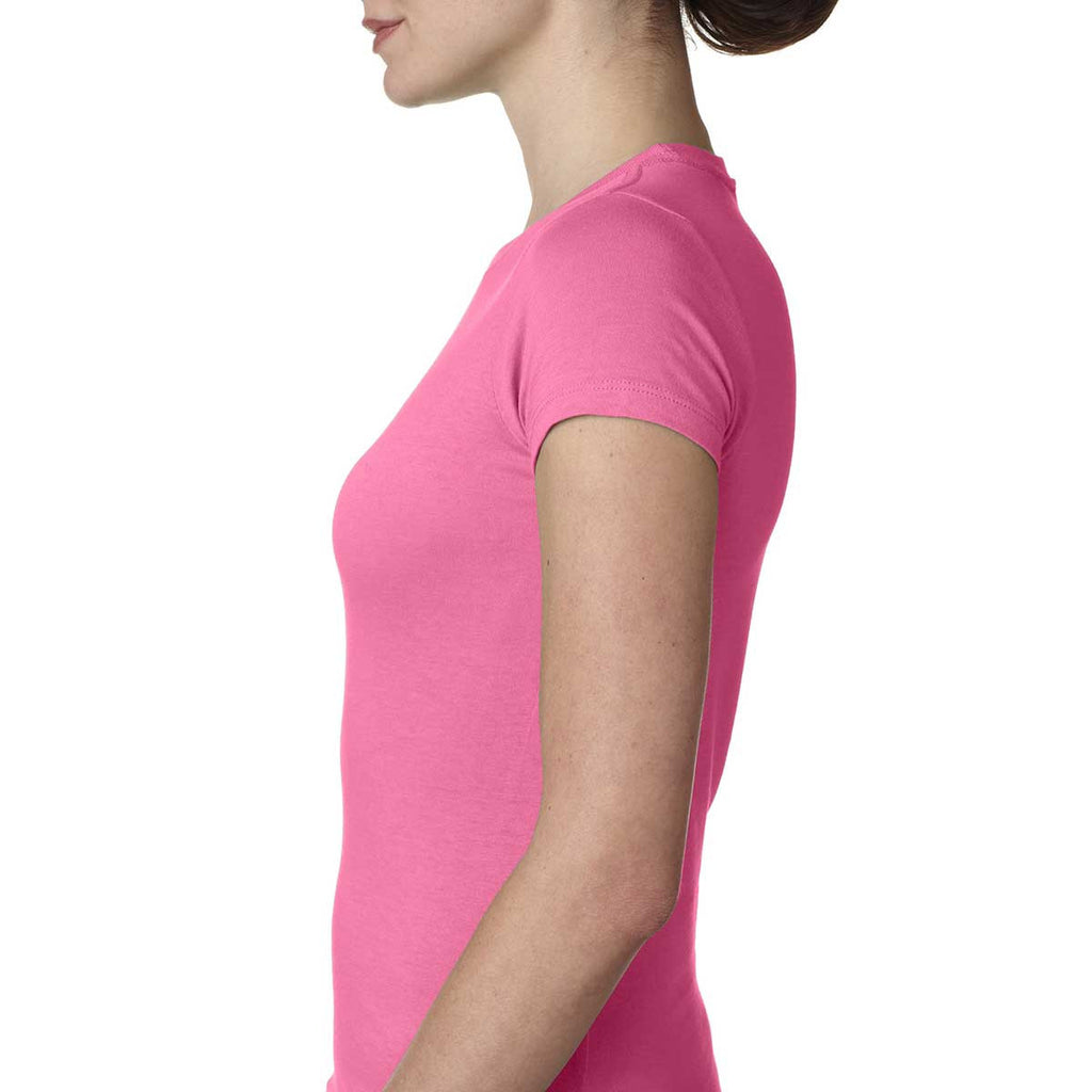 Next Level Women's Hot Pink Perfect Tee