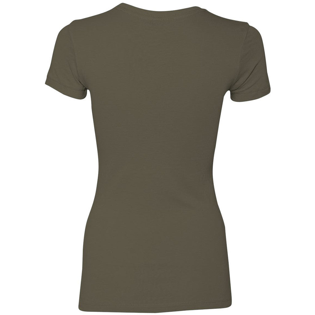 Next Level Women's Light Olive Perfect Tee