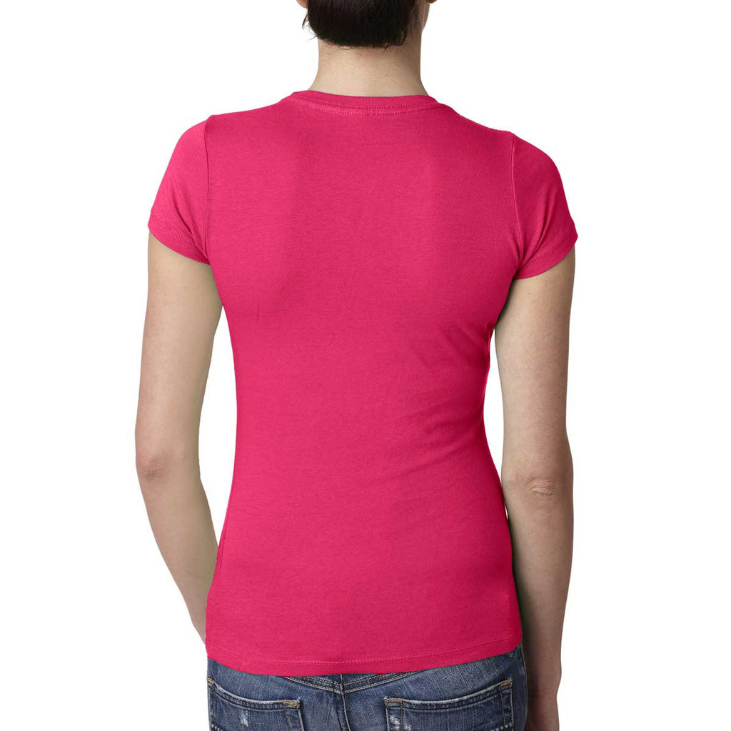 Next Level Women's Shocking Pink Perfect Tee