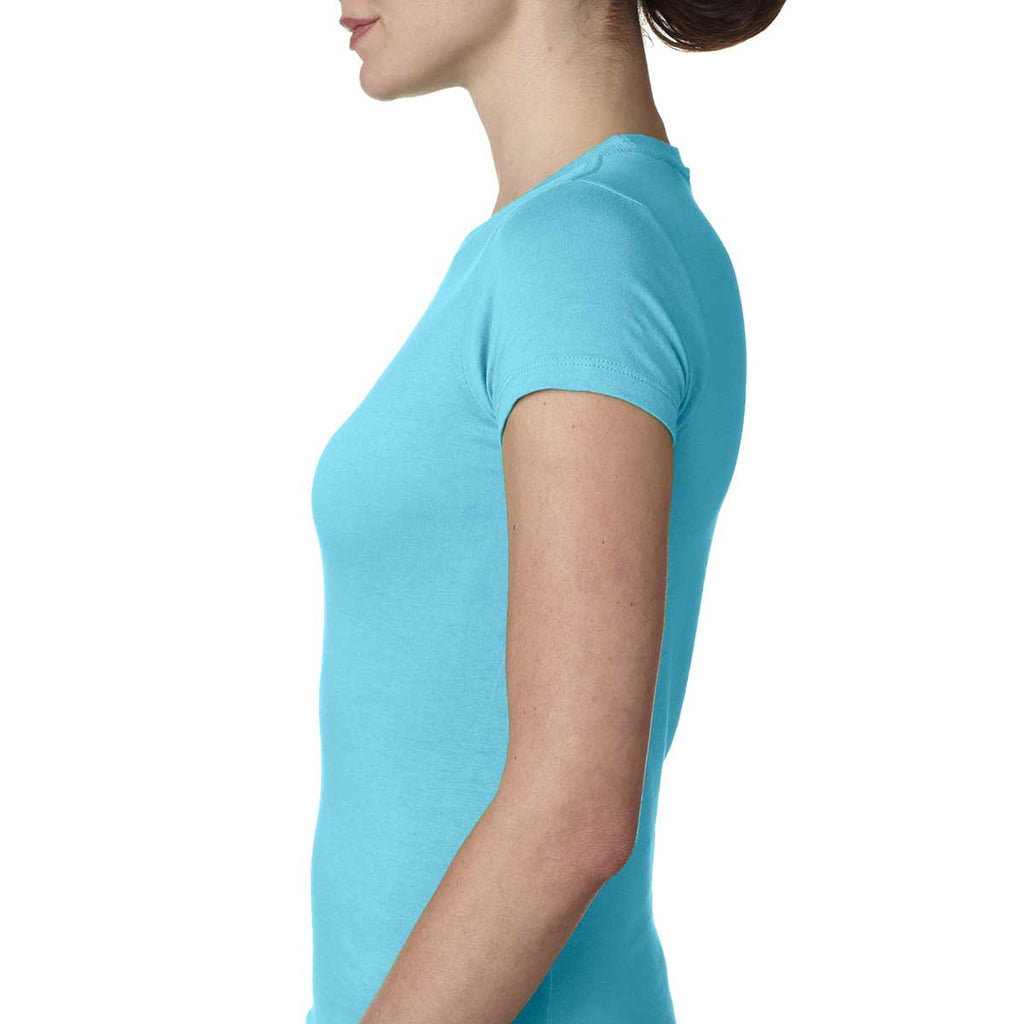 Next Level Women's Tahiti Blue Perfect Tee