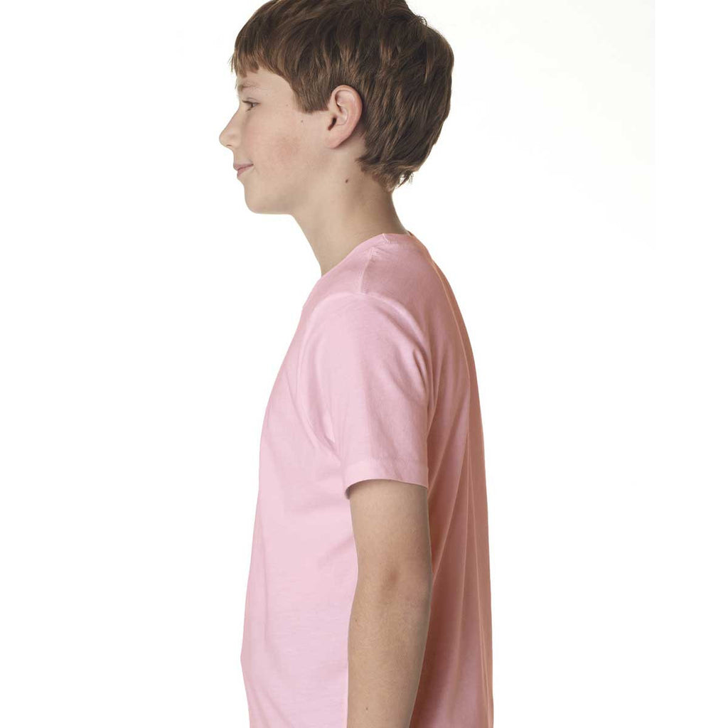 Next Level Boy's Light Pink Premium Short-Sleeve Crew Tee