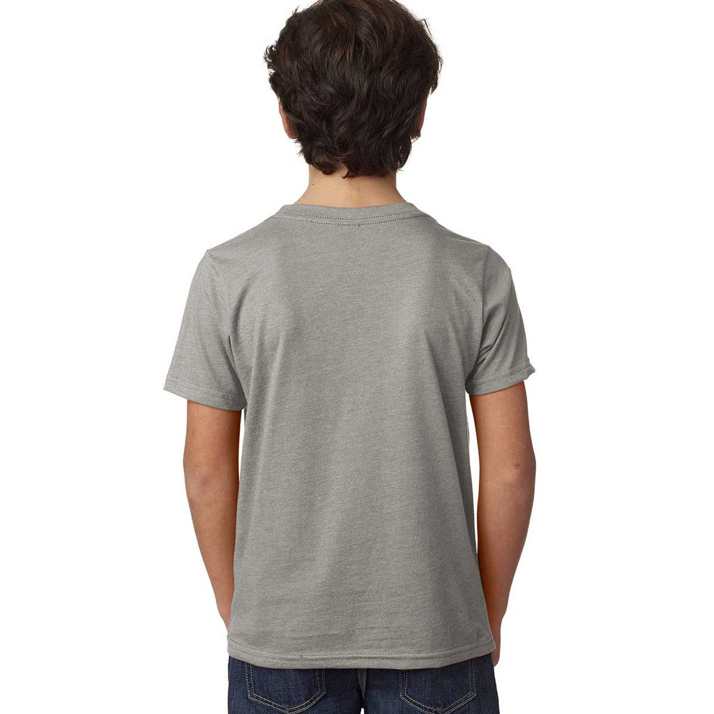 Next Level Boy's Dark Heather Gray CVC Crew Tee