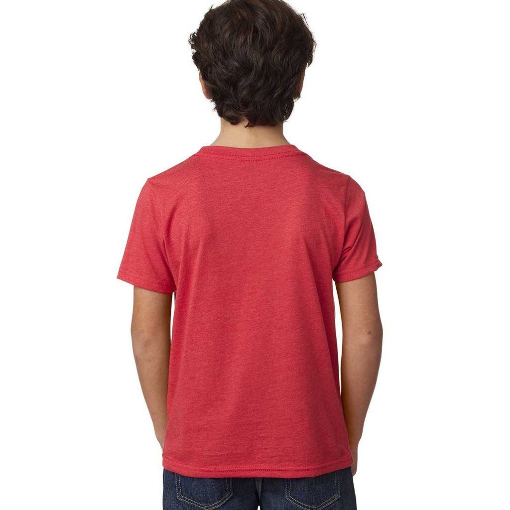 Next Level Boy's Red CVC Crew Tee