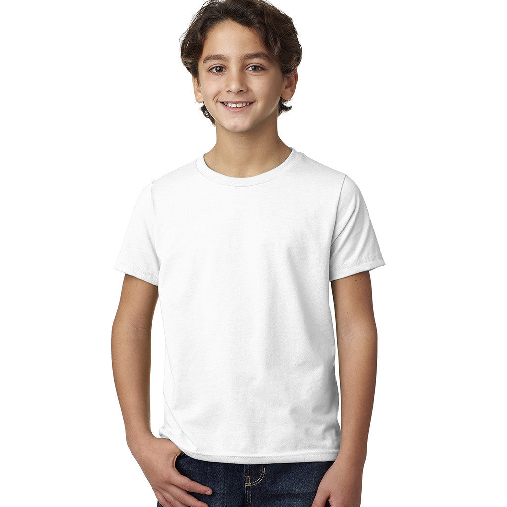 Next Level Boy's White CVC Crew Tee