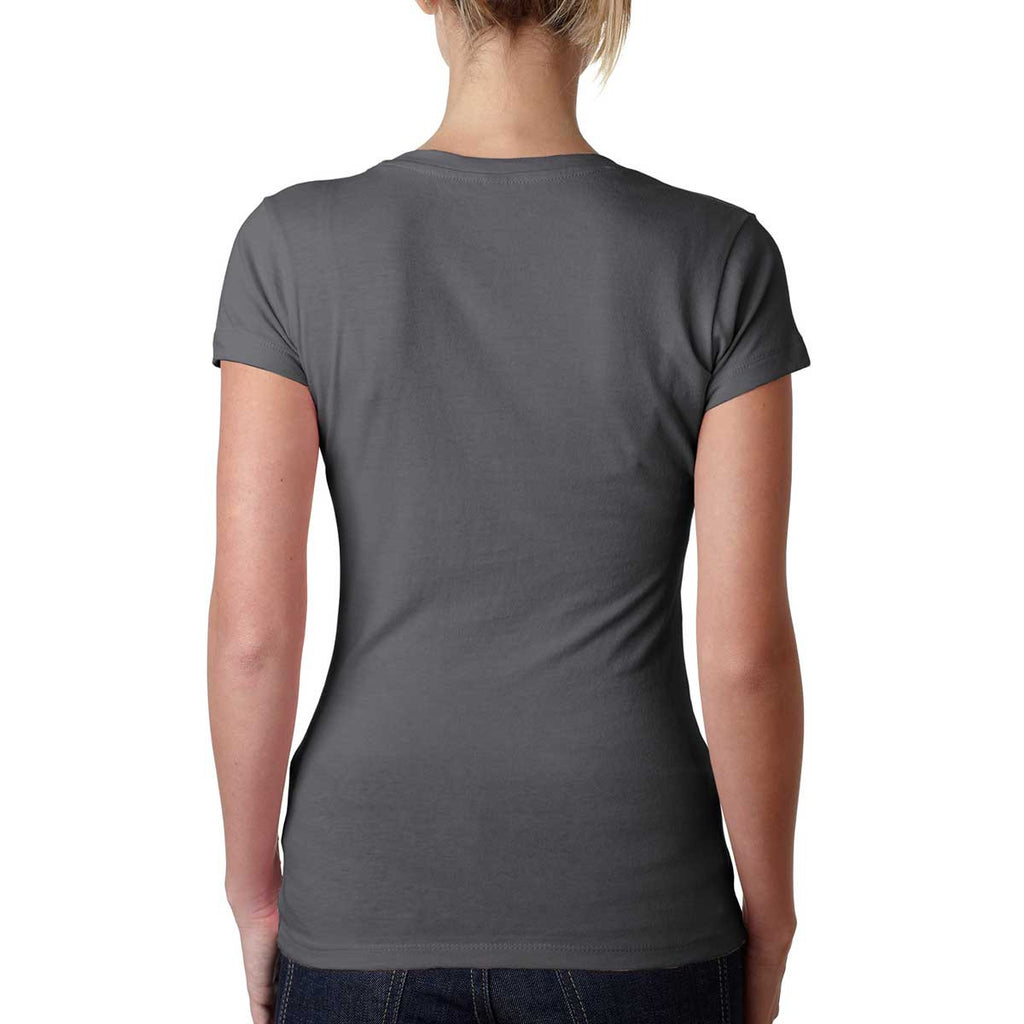 Next Level Women's Dark Gray Sporty V-Neck Tee