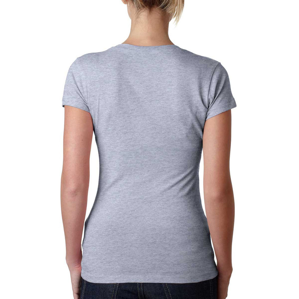 Next Level Women's Heather Gray Sporty V-Neck Tee