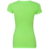 Next Level Women's Neon Green Sporty V-Neck Tee