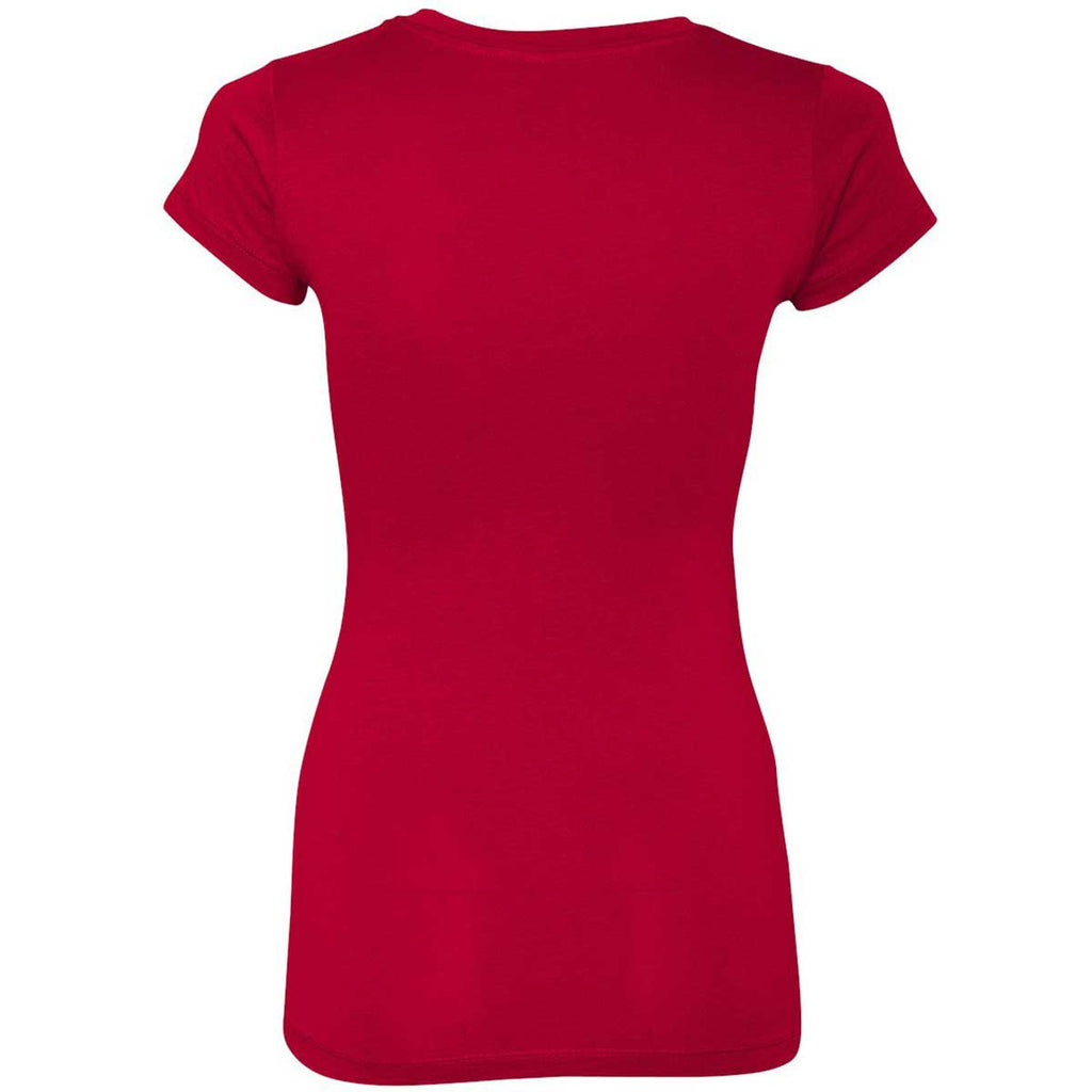 Next Level Women's Red Sporty V-Neck Tee