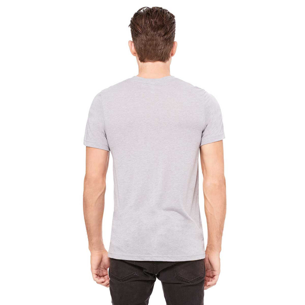 Bella + Canvas Unisex Athletic Grey Triblend Short-Sleeve T-Shirt