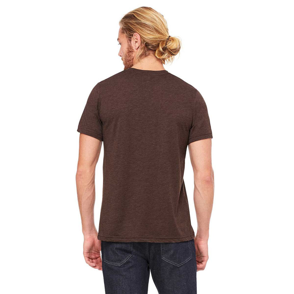 Bella + Canvas Unisex Brown Triblend Short-Sleeve T-Shirt