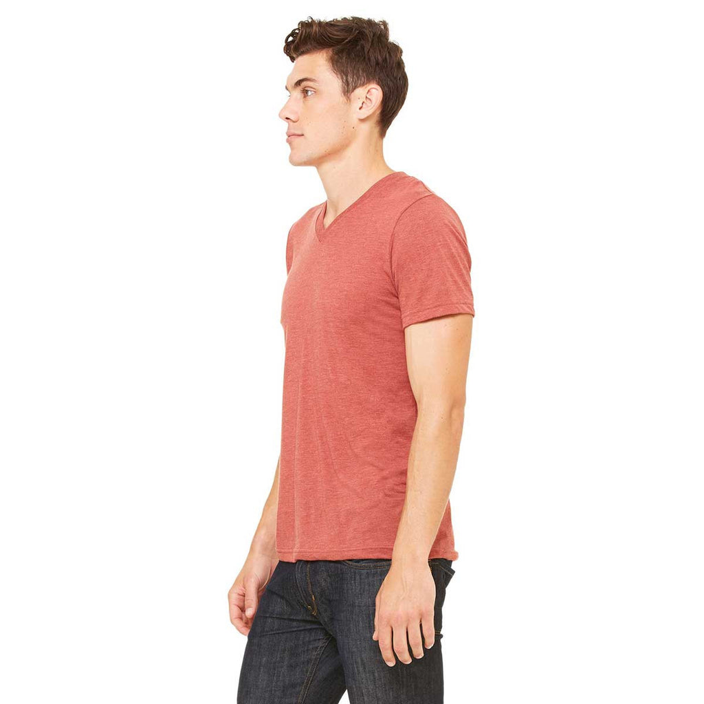 Bella + Canvas Unisex Clay Triblend Short-Sleeve V-Neck T-Shirt